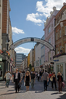 Shopping in London's Carnaby Street