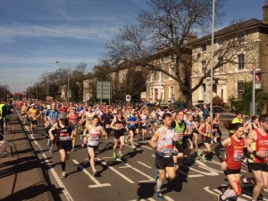 Watching the London Marathon